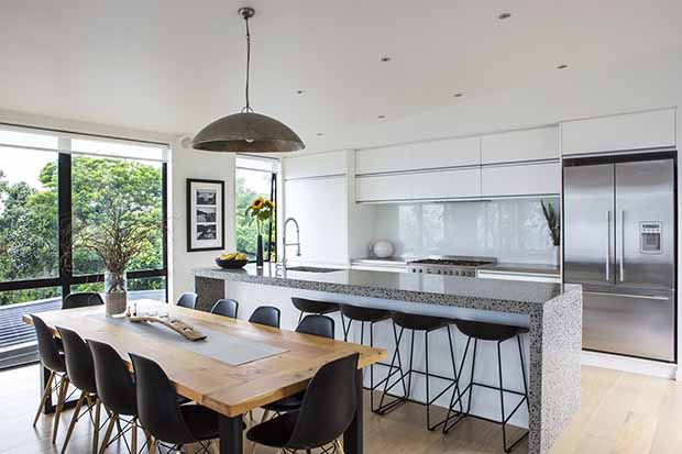 Kitchen fitout at Langs Beach home