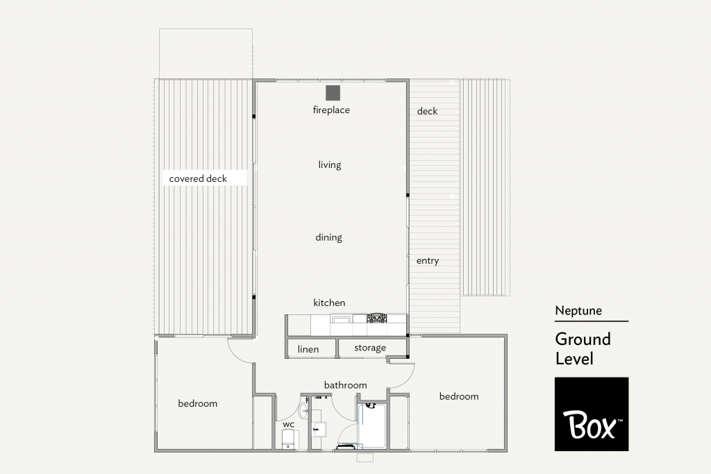 Neptune 2 bedroom Home Floor Plan