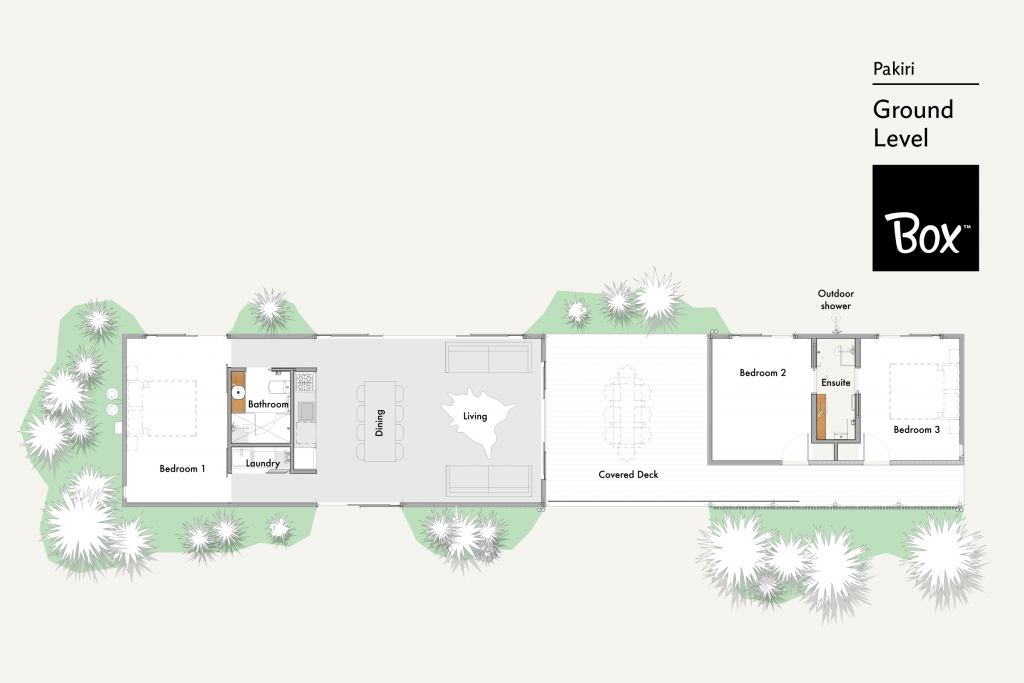 3 Bedroom Floor Plan at Pakiri Home