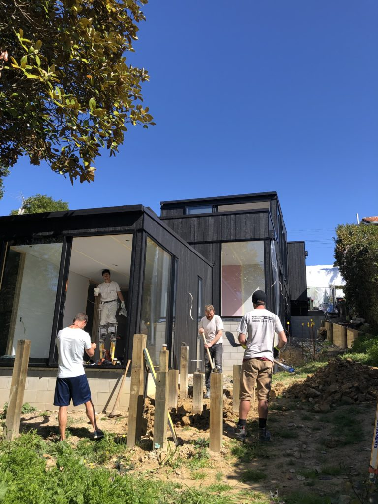 Siteworks at Grey Lynn home build in Auckland