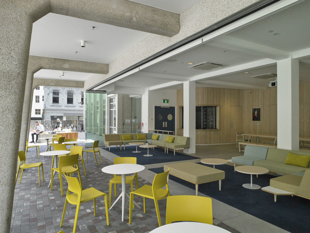 Open plan layout of new cafe in Freyberg Place